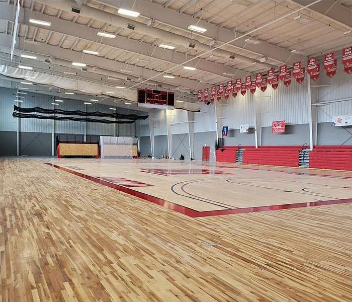 After restoring gym floor