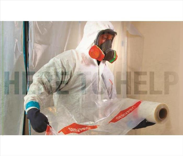 Picture of SERVPRO employee performing disinfecting services