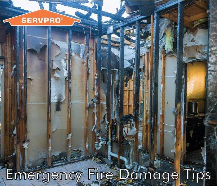 House on fire with SERVPRO logo