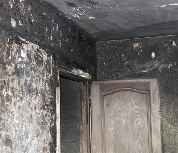Soot damage in home
